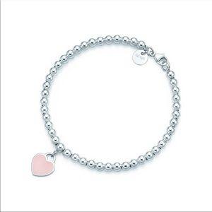 Tiffany & Co Pink Beaded Bracelet